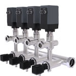 Multi-channel solution process temperature control